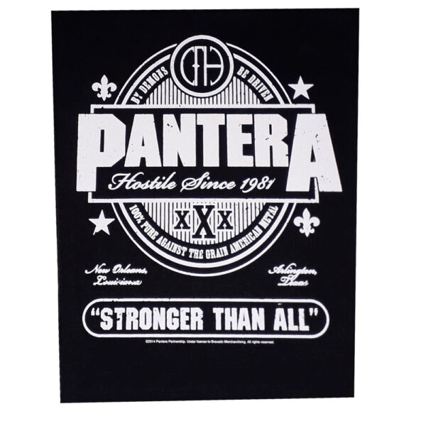 Pantera - Ryggmärke - Stronger That All