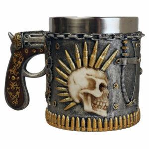 Agora - Mugg -Dödskalle, Pistol