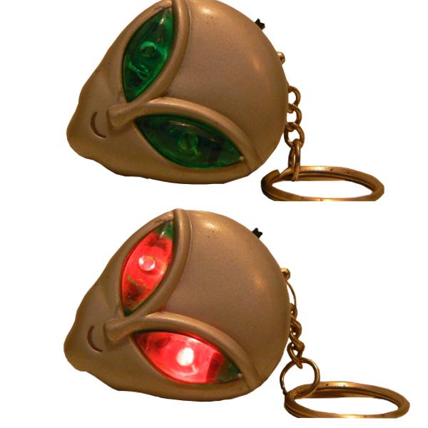 Alienhead - Nyckelring - Flashing Eyes
