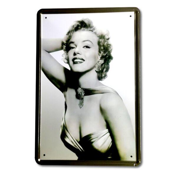 Marilyn Monroe - Plåttavla / Metallskylt