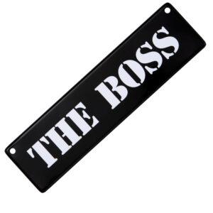 Metallskylt för bil / barnvagn - The boss