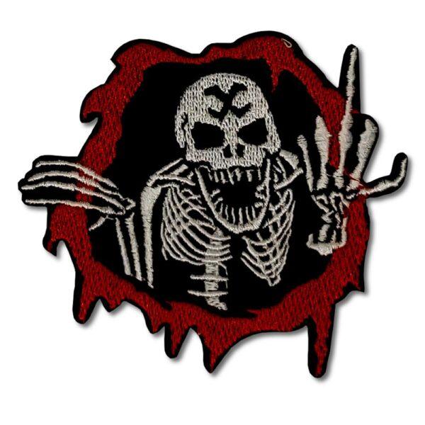 Tygmärke - Fuck Off Skeleton