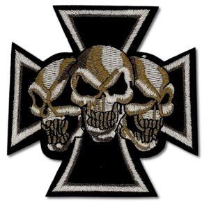 Tygmärke - Malteserkors - Dödskallar