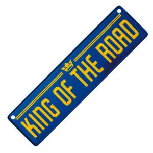 """Metallskylt för bil """"King of the road"""""""