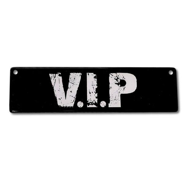 Metallskylt för bil / barnvagn - VIP
