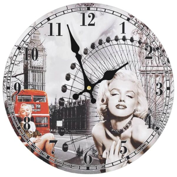 Marilyn Monroe - Väggklocka - Vintage - 60 cm